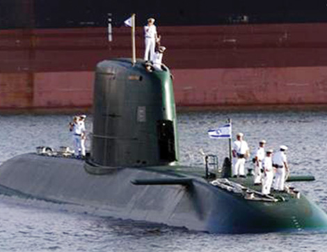 New Israeli Dolphin-class submarine in Haifa port