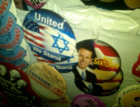 Rick Santorum for president buttons