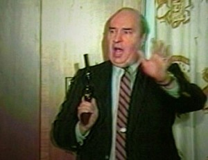 PA State Treasurer R Budd Dwyer seconds before he committed suicide at the PA State House, January 22, 1987 Credit: Courtesy of the Associated Press