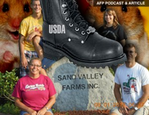 AFP PODCAST & ARTICLE: USDA Uses Hamsters to Wipe Out Family Farm