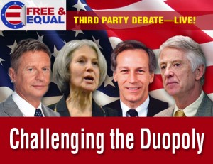 Special 2012 Third Party Presidential Debate: Live Streaming Video on AFP