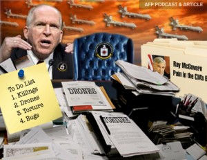 AFP PODCAST & ARTICLE: Ray McGovern on CIA Head John Brennan