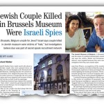 Jewish Couple Killed in Brussels Museum Were Israeli Spies