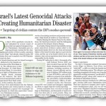 Israel's Latest Genocidal Attacks Creating Humanitarian Disaster