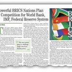 Powerful BRICS Nations Plan Competition for World Bank, IMF, Federal Reserve System