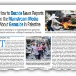How to Decode News Reports in the Mainstream Media About Palestinian Genocide