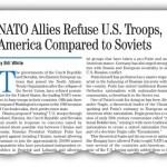 NATO Allies Refuse U.S. Troops, America Compared to Soviets