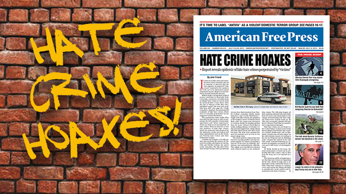 Hate Crime Hoaxes - New Issue